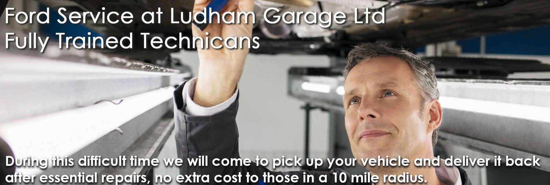 Servicing at Ludham Garage